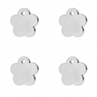 2 Sterling Silver Flower Charm 8mm Flower Tags